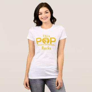 Camiseta T da rocha dos pop