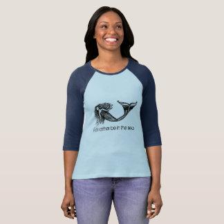 Camiseta T da sereia