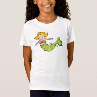 Camiseta T da sereia das meninas