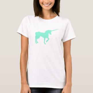 Camiseta T da silhueta do unicórnio de turquesa do t-shirt
