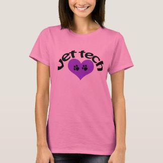 Camiseta T da tecnologia do veterinário do coração roxo