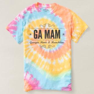 Camiseta T da tintura do laço de GA MAM