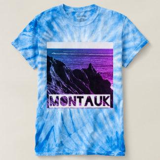 Camiseta T da tintura do laço do ciclone do montauk