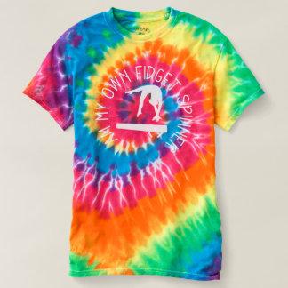 Camiseta T da tintura do laço do feixe de equilíbrio da