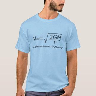 Camiseta T da velocidade de escape