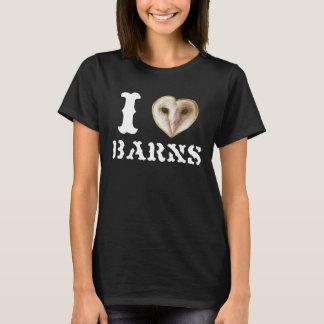 Camiseta T das construções das corujas de celeiro