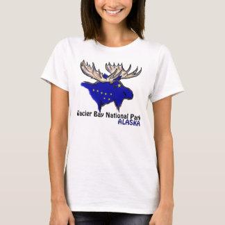 Camiseta T das senhoras da bandeira de Alaska do parque