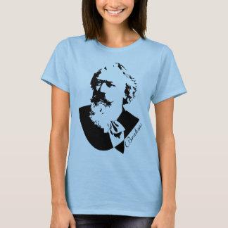 Camiseta T das senhoras de Johannes Brahms do compositor da