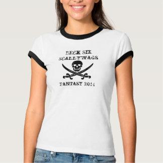 Camiseta T das senhoras de Scallywags da plataforma seis