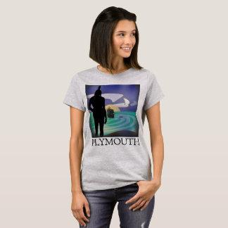 Camiseta T das senhoras do olhar de Plymouth Massasoit