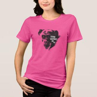 Camiseta T das senhoras do pescoço de grupo com design de