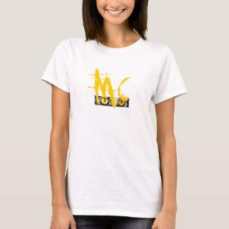Camiseta T das senhoras dos olhos de gato do macaco