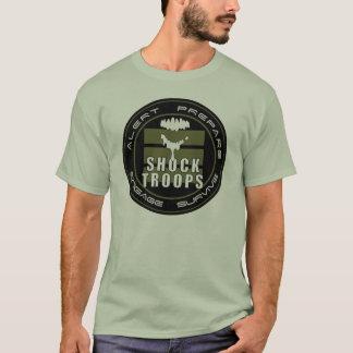 Camiseta T    das tropas de choque de WWW.LOSTZOMBIES.COM