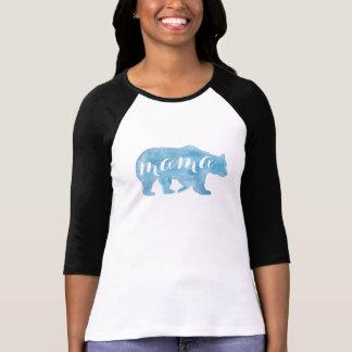 Camiseta T de Basebol do Mama Carregamento Aguarela Mulher