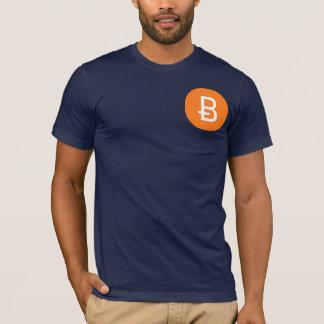 Camiseta T de Bitcoin do marinho