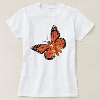 Camiseta T de combate da borboleta do MS da esclerose