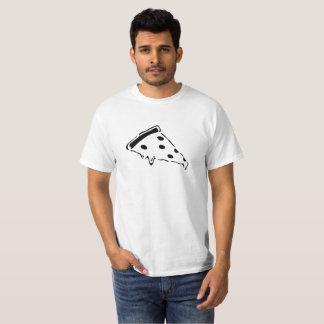 Camiseta T de derretimento do estêncil da pizza -