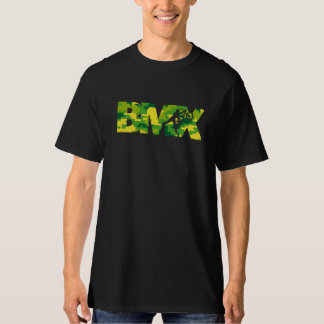 Camiseta T de Digitas Camo do estêncil de BMX