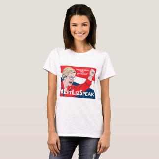 Camiseta T de Elizabeth Warren do #LetLizSpeak - pelo