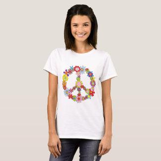 Camiseta T de flower power