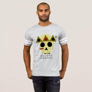 Camiseta T de futebol criativo antigo do logotipo