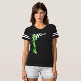 """Camiseta """"T de futebol das mulheres de Tim terrível"""""""