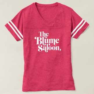 Camiseta T de futebol do logotipo (rosa)