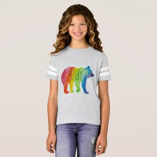 Camiseta T de futebol do orgulho da família da aguarela do
