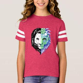 Camiseta T de futebol místico mão original da menina tirada