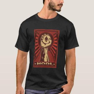 Camiseta T de HODL: Mão que agarra defiantly uma moeda de