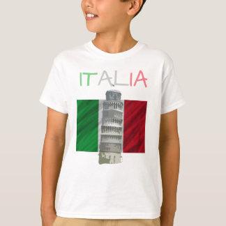 Camiseta T de Italia Pisa dos meninos