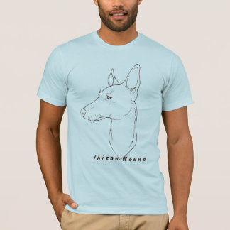 Camiseta T de Lineart do cão de Ibizan