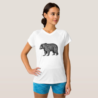 Camiseta T de passeio do urso de urso
