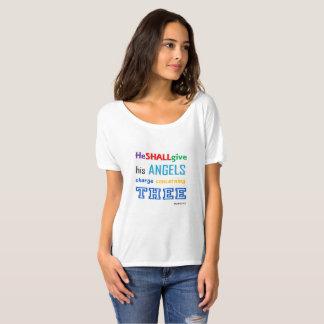 Camiseta T de pensamento positivo das mulheres (DARÁ SEU
