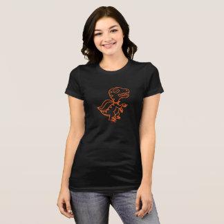 Camiseta T de Rex do arco-íris: Alaranjado