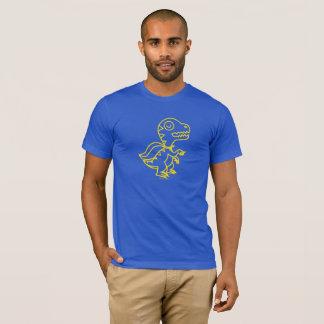Camiseta T de Rex do arco-íris: Amarelo