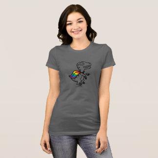 Camiseta T de Rex do arco-íris: Arco-íris