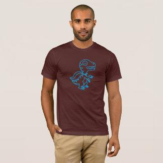Camiseta T de Rex do arco-íris: Azul