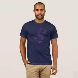 Camiseta T de Rex do arco-íris: Roxo