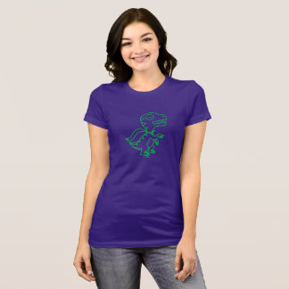 Camiseta T de Rex do arco-íris: Verde