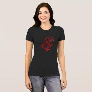 Camiseta T de Rex do arco-íris: Vermelho