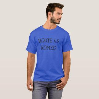 Camiseta T de Romeo da rota 45