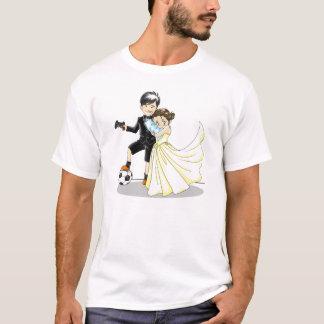 Camiseta T de Samantha & de casamento do qui - T pequeno do