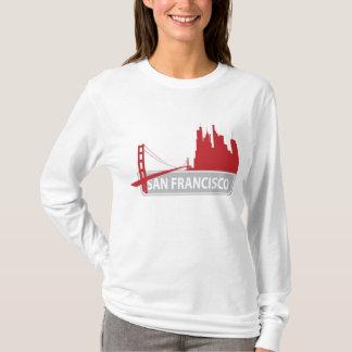 Camiseta T de San Francisco Califórnia golden gate bridge