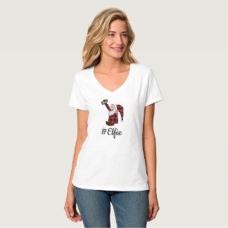Camiseta T de sorriso de Smartphone do #Elfie