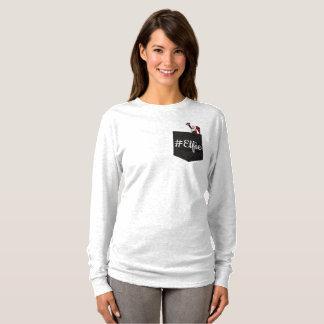 Camiseta T de sorriso do bolso do #Elfie