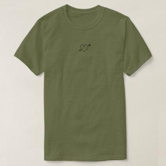 Camiseta T de Struk do coração
