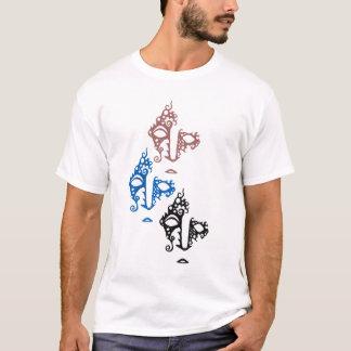 Camiseta T de três senhoras das caras