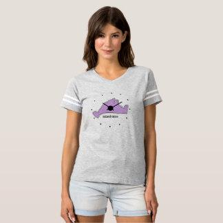 Camiseta T desportivo das senhoras do tempo da ilha