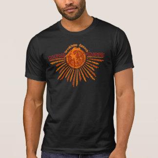 Camiseta T destruído - homens pretos